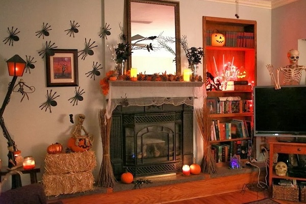 Living room decor for halloween