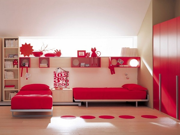 lovely red bedroom decor -