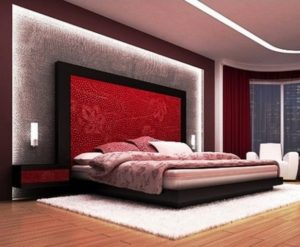 Lovely red-black bedroom decor ideas pictures