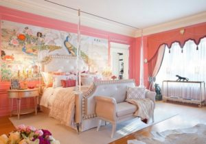 lovely wall art for pink bedroom decoration