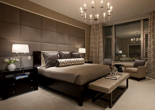 Luxury brown bedroom walls design ideas