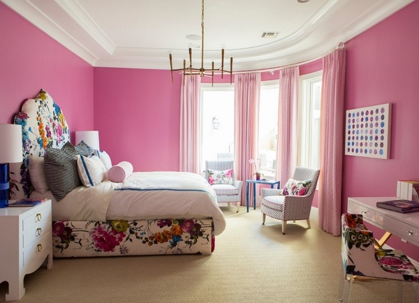 Pink bedroom designs ideas photos gallery decor for Room design ideas pink