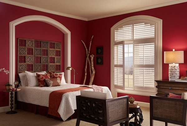 red walls for bedroom interior decoration
