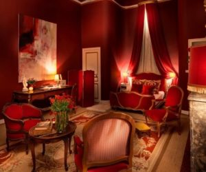 romantic red bedroom design