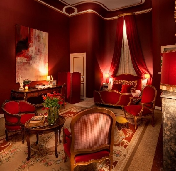Red Bedroom Ideas For Couples Part - 18: Romantic Red Bedroom Design