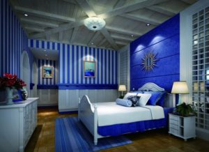 Awesome blue bedroom decoration