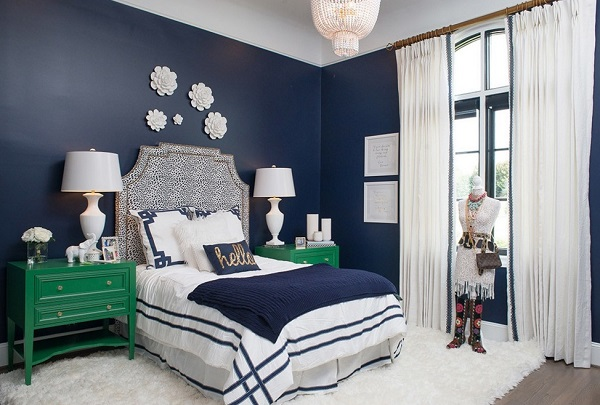 beautiful blue bedroom decor photos