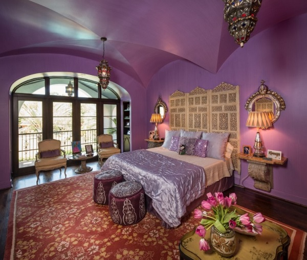 Classical purple bedroom design