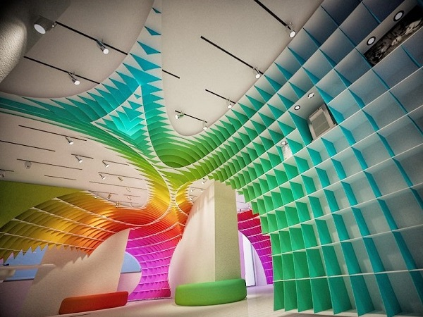 Colorful space for rainbow home decor