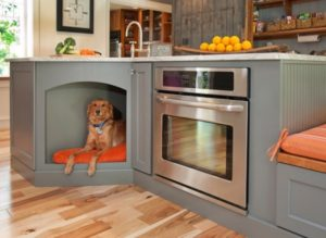 Kitchen cabinet for dogs to sleep