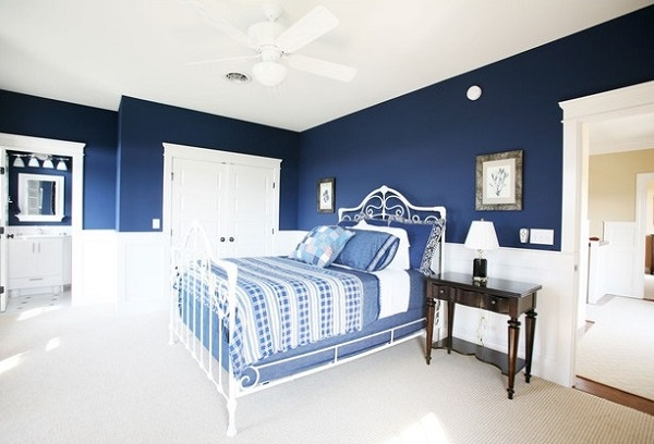 latest blue bedroom interior decorating ideas