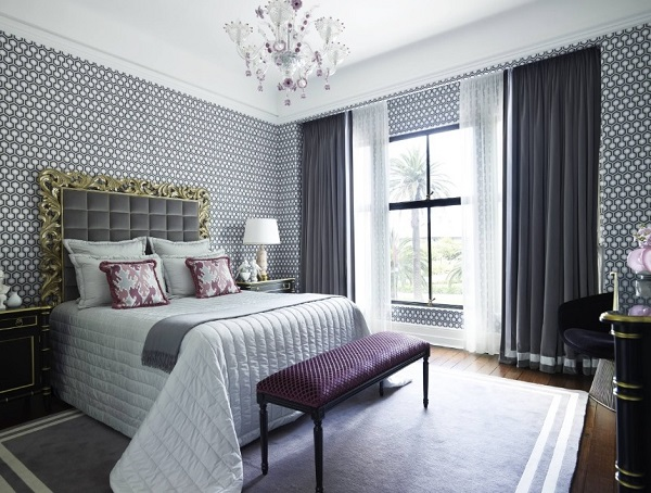 Latest purple bedroom design.