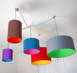 Multi color lampshade for home decor