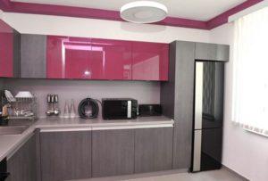 Pink and gray kitchen interior design ideas