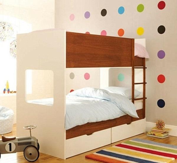 Rainbow polka dots for kids bedroom decor