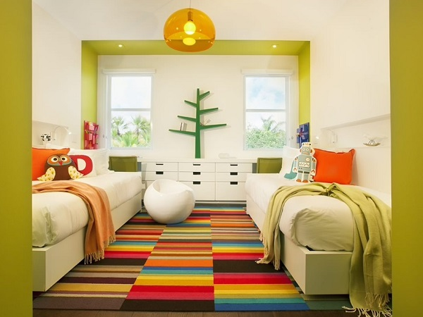 Rainbow Rug for kids room