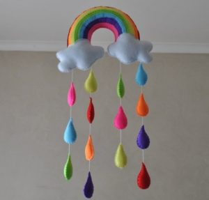 Rainbow wall hanging to decorate home.