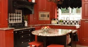 How to Design a Red and Black Kitchen