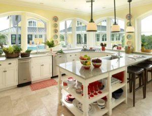 Amazing white-yellow kitchen interior decorating ideas