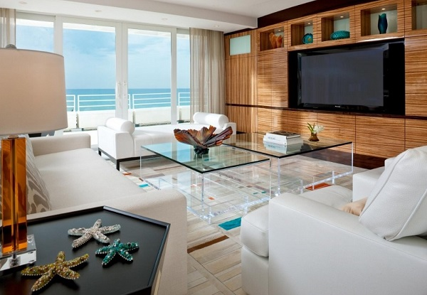Beach Style Living Room Designing Tips