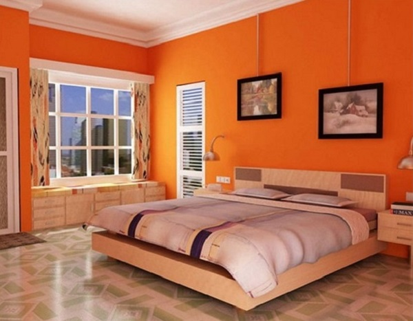 beautiful orange bedroom design ideas - Orange Bedroom 2016