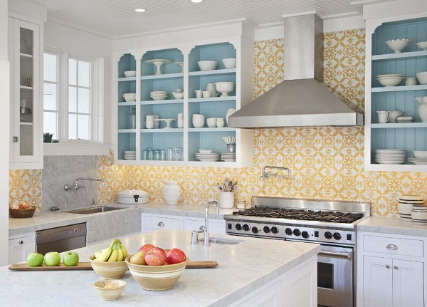 Best Kitchen Interior Designs With Yellow White Color Theme