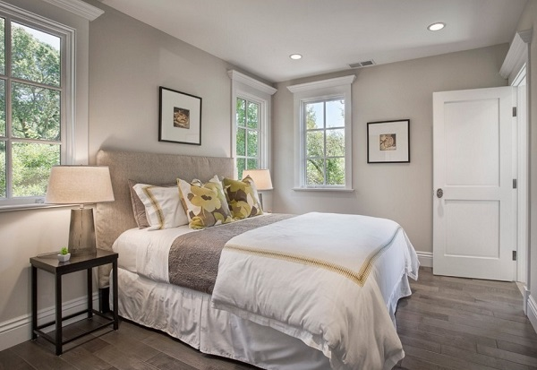 Classical bedroom decorating ideas for grey theme