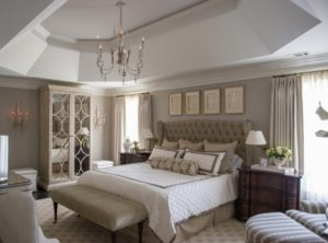 Elegant gray bedroom walls