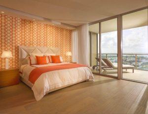 Elegant orange bedroom ideas
