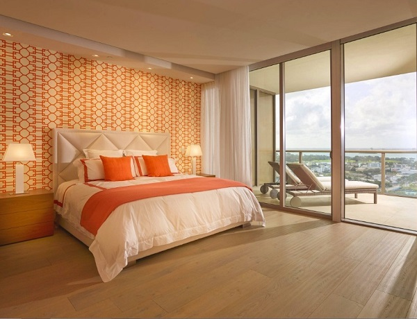 Orange bedroom ideas home design for Bedroom inspiration orange