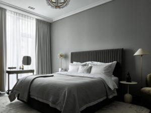 Latest grey bedroom design photo