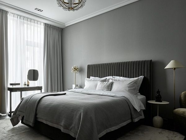 Latest grey bedroom design photo