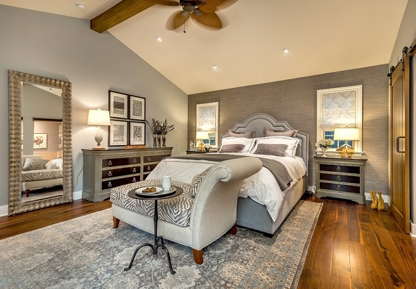 Luxury gray bedroom designing ideas
