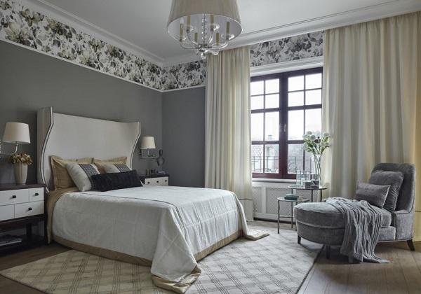 Most luxurious grey bedroom interior design photos