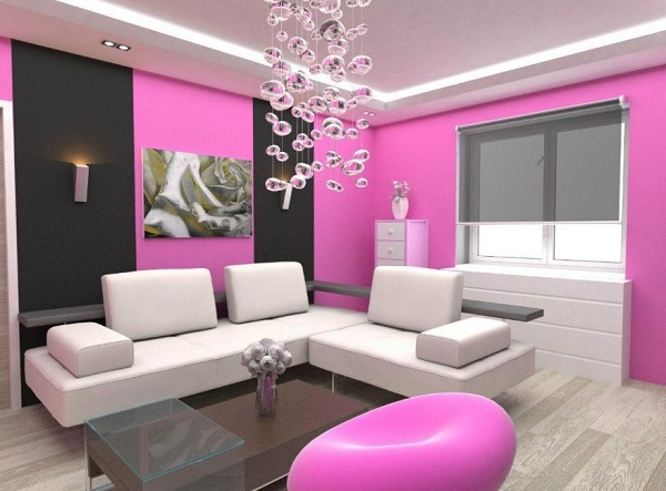 Pink Living Room Interior Decor Trend