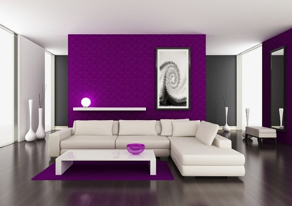 Purple Living Room Design Ideas