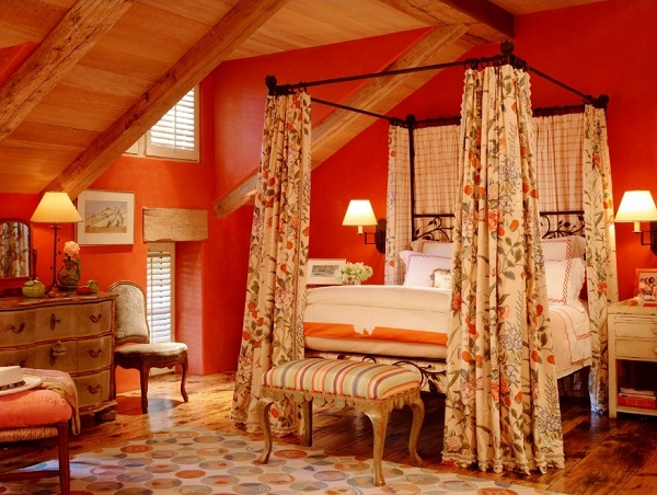 Splendid Orange Bedroom Decoration