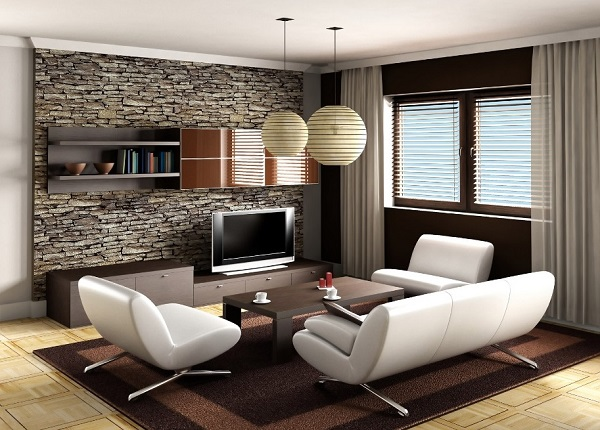Traditional Brown Living Room Decor