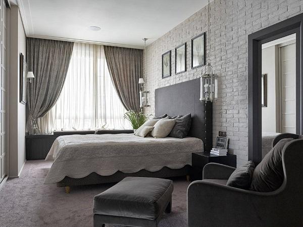 Wonderful gray bedroom design from Newyork