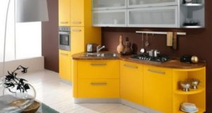 Beautiful Yellow and Brown Kitchen Interior Designs