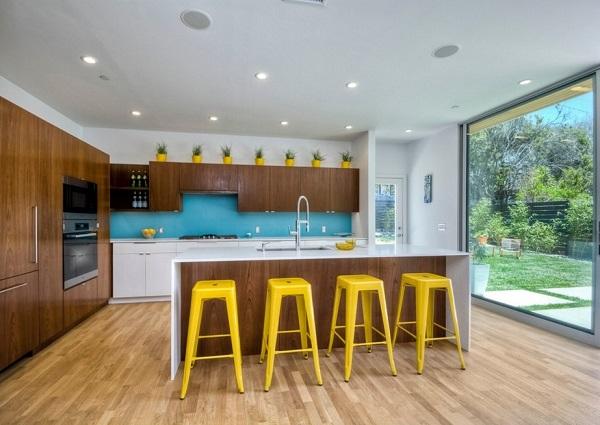 Top yellow-brown kitchen design photos.