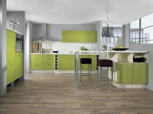Amazing Green White Kitchen Photos