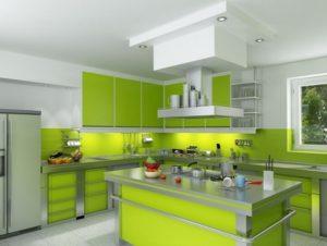 Best white-green kitchen decor