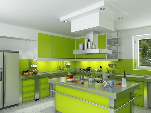 Best white-green kitchen decor
