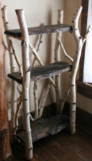 Branch shelf for bathroom