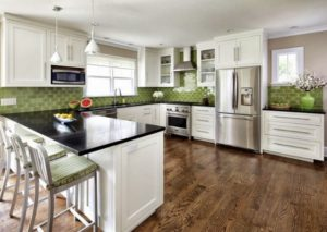 Green-white kitchen interior design ideas