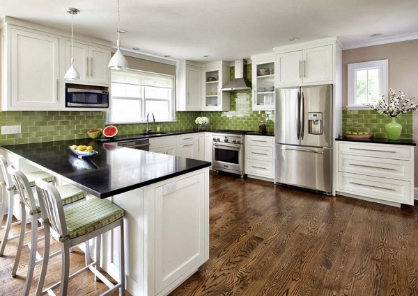 Green Kitchen Design Ideas ~ Best green white kitchen design ideas pictures home
