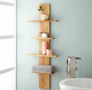 Hanging shelf for bathroom-decor