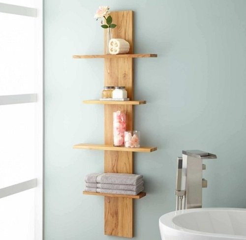 Hanging shelf for bathroom-decor