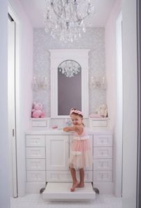 Baby girl bathroom interior design